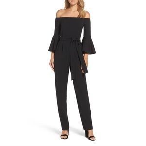 NWOT Eliza J Off Shoulder Bell Sleeve Jumpsuit